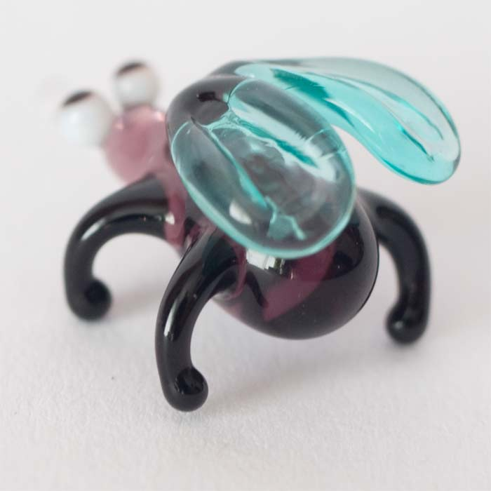 Glass Fly Figurine