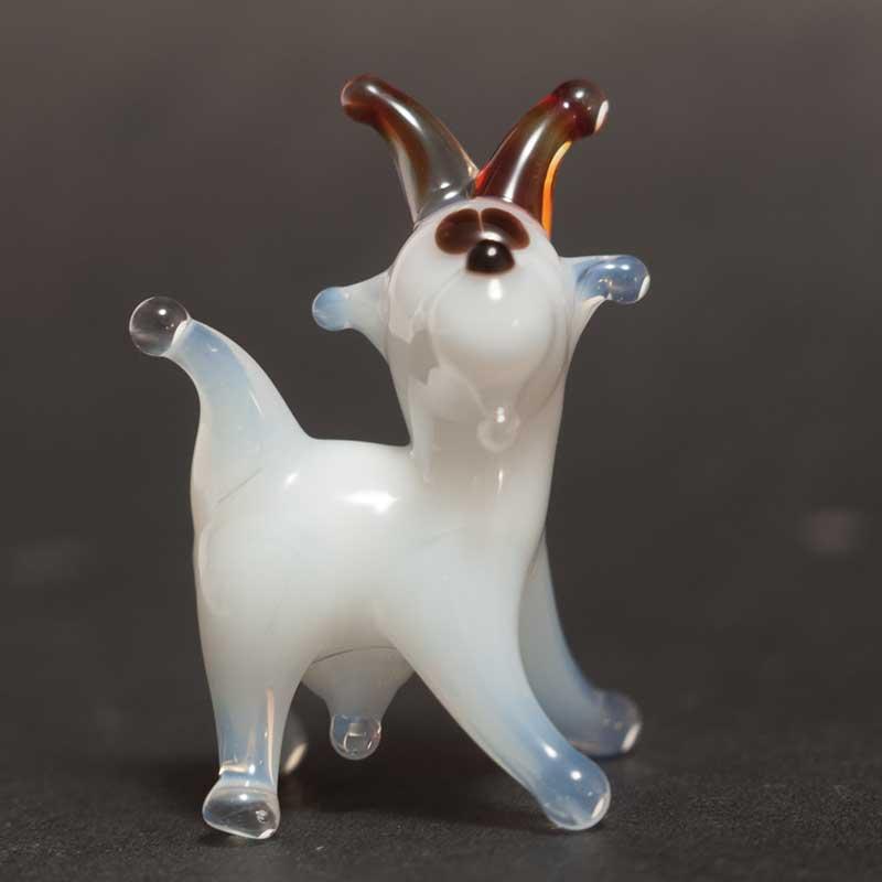 Goat glass figurine
