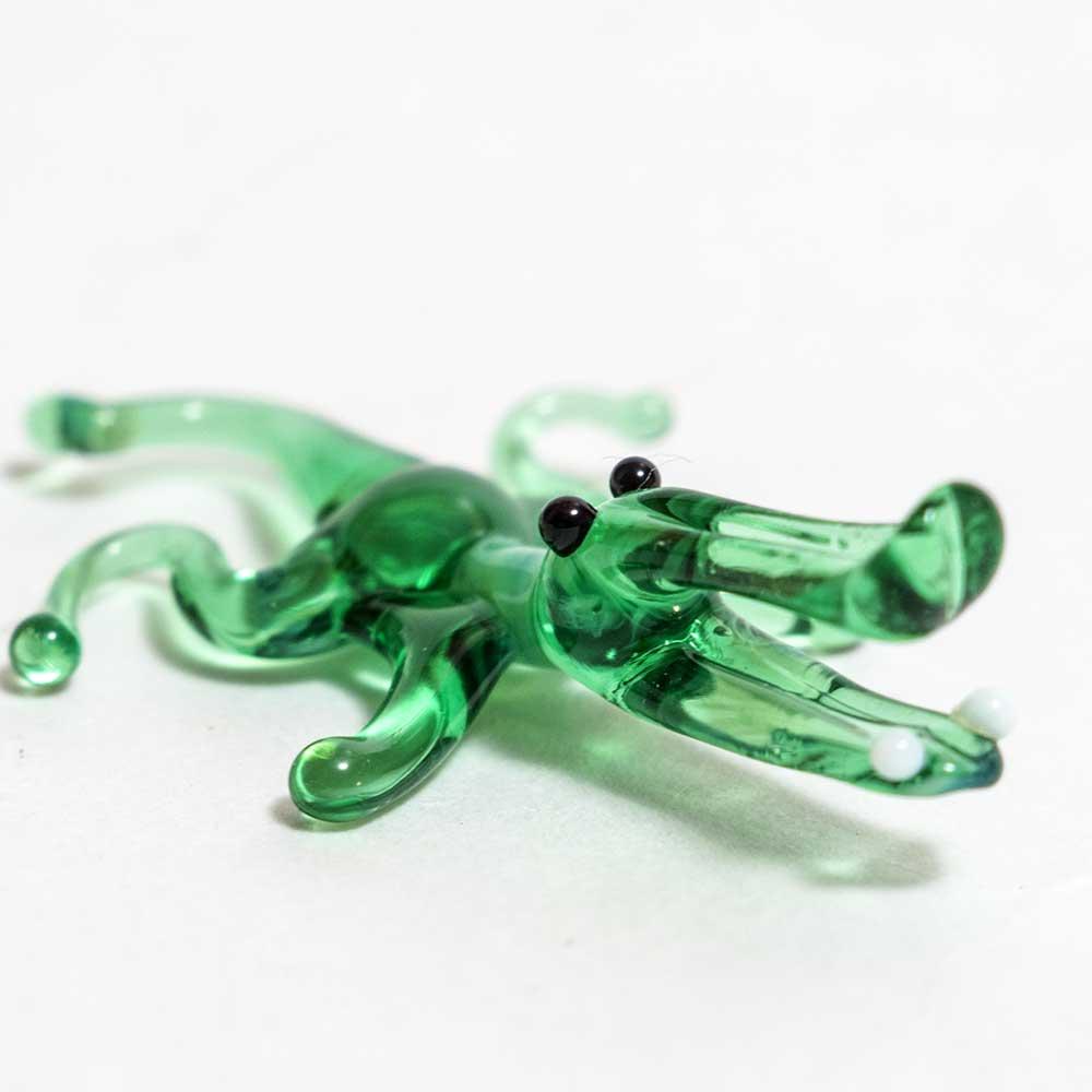 Glass Alligator Figurine