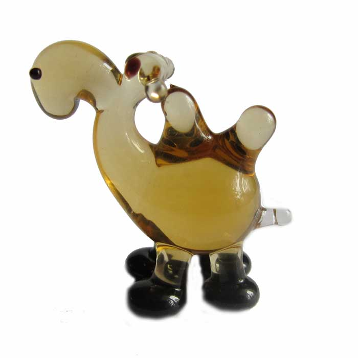 Camel glass figurine