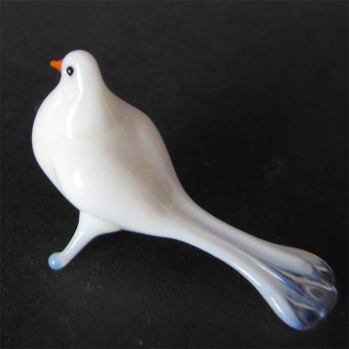 White dove  glass figurine